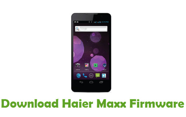 Download Haier Maxx Firmware