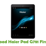 Haier Pad G781 Firmware