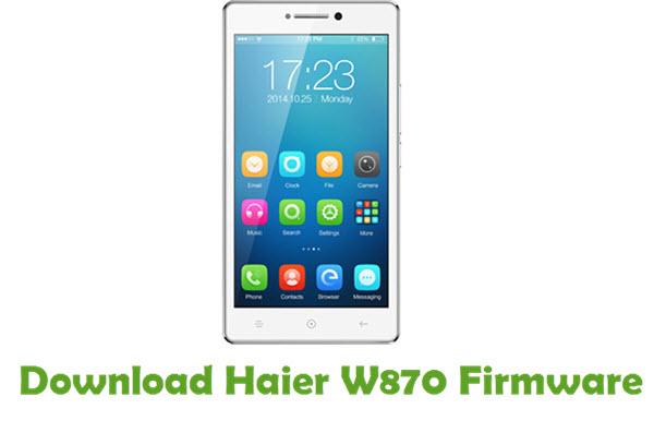 Download Haier W870 Firmware