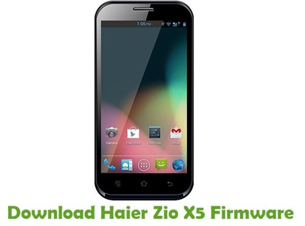 Download Haier Zio X5 Firmware