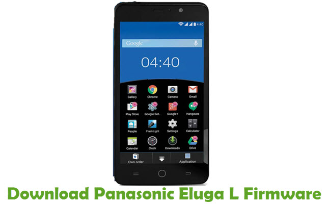 Download Panasonic Eluga L Firmware
