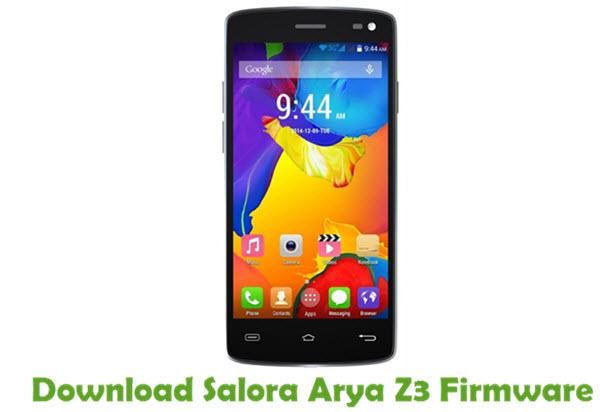Download Salora Arya Z3 Stock ROM