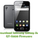 Samsung Galaxy Ace GT-S5830 Firmware