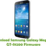 Samsung Galaxy Mega 6.3 GT-I9200 Firmware