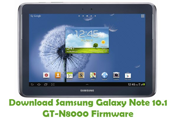 Download Samsung Galaxy Note 10.1 GT-N8000 Stock ROM