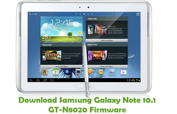 Download Samsung Galaxy Note 10.1 GT-N8020 Firmware