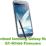Samsung Galaxy Note 2 GT-N7100 Firmware