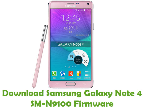 Download Samsung Galaxy Note 4 SM-N9100 Stock ROM