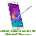 Samsung Galaxy Note 4 SM-N910C Firmware