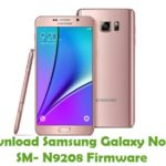 Samsung Galaxy Note 5 SM-N9208 Firmware