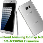 Samsung Galaxy Note 7 SM-N930W8 Firmware
