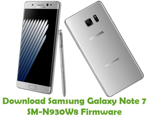 Download Samsung Galaxy Note 7 SM-N930W8 Firmware