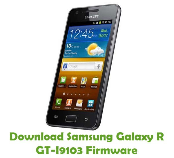Download Samsung Galaxy R GT-I9103 Stock ROM