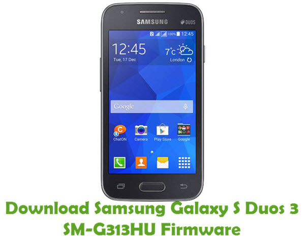 Download Samsung Galaxy S Duos 3 SM-G313HU Stock ROM