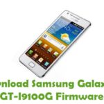 Samsung Galaxy S2 GT I9100G Firmware