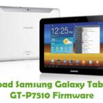 Samsung Galaxy Tab 10.1 3G GT-P7510 Firmware