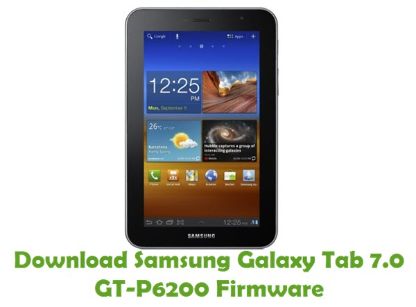 Download Samsung Galaxy Tab 7.0 GT-P6200 Stock ROM
