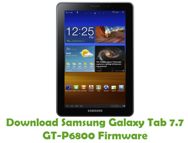 Download Samsung Galaxy Tab 7.7 GT-P6800 Stock ROM