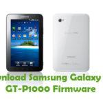 Samsung Galaxy Tab GT-P1000 Firmware