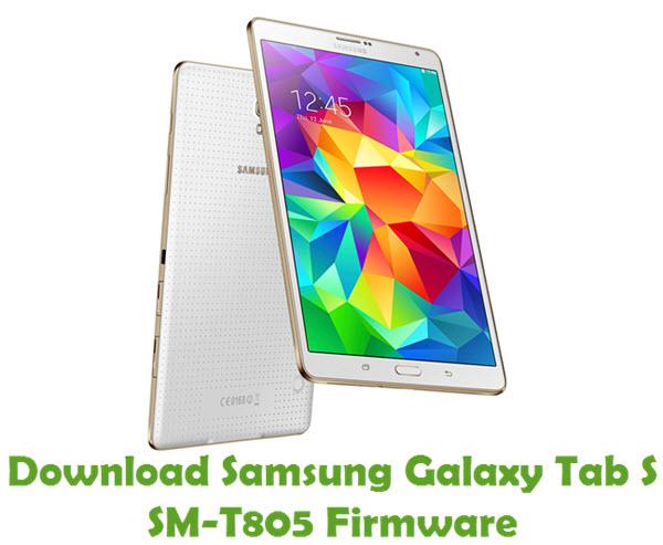 Download Samsung Galaxy Tab S SM-T805 Stock ROM