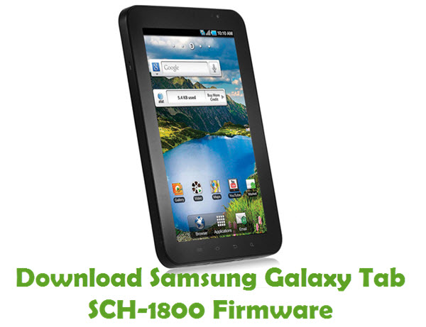 Download Samsung Galaxy Tab SCH-1800 Stock ROM