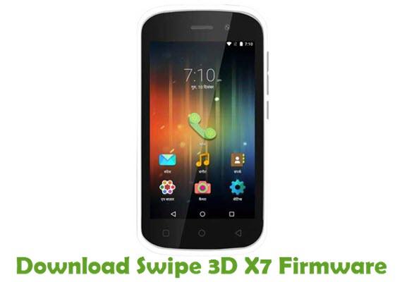 Download Swipe 3D X7 Firmware