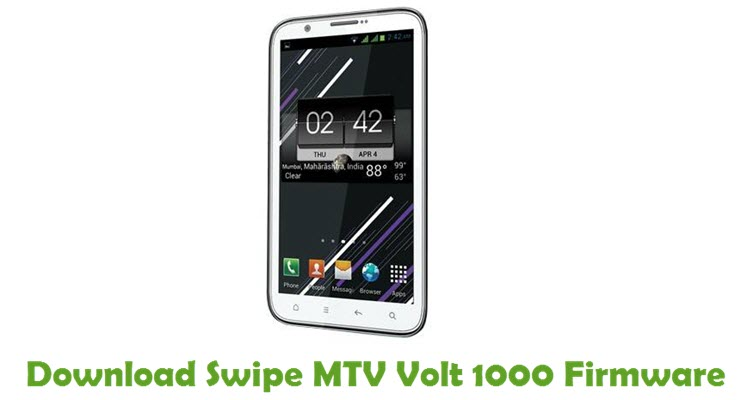 Download Swipe MTV Volt 1000 Firmware