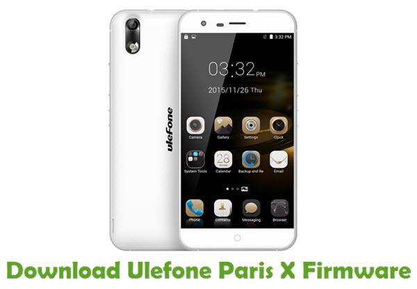 Download Ulefone Paris X Firmware