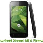 Xiaomi Mi 1S Firmware