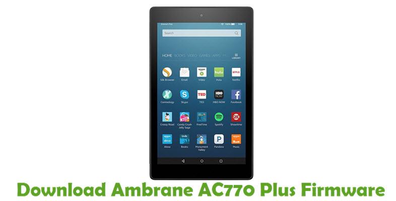 Download Ambrane AC770 Plus Firmware