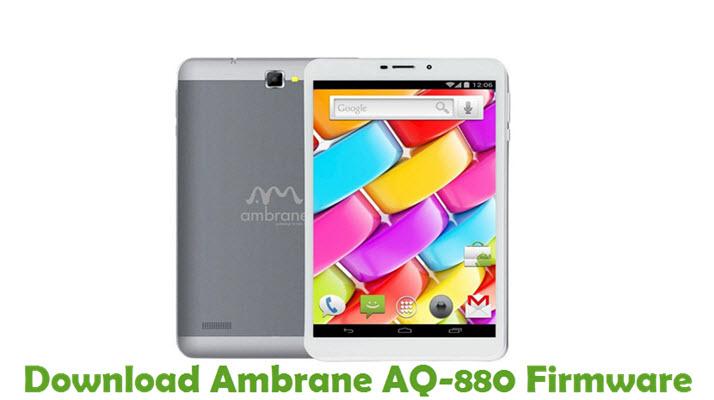 Download Ambrane AQ-880 Firmware