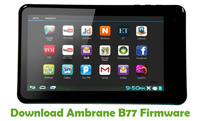 Download Ambrane B77 Firmware