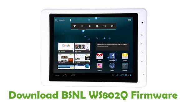 Download BSNL WS802Q Firmware