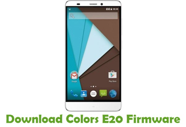 Colors E20 Firmware