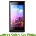 Colors K20 Firmware