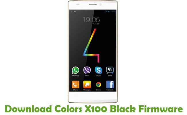Download Colors X100 Black Firmware