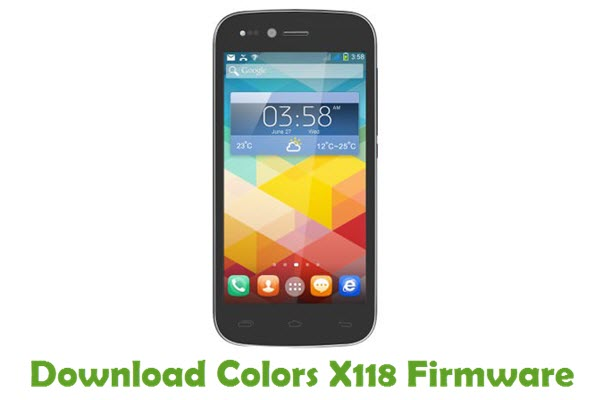 Download Colors X118 Firmware