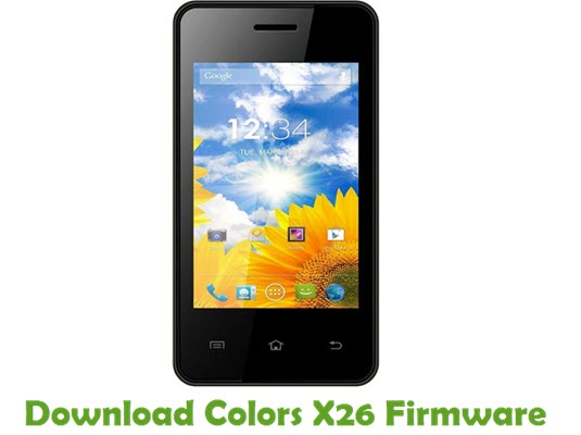 Download Colors X26 Firmware