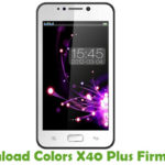 Colors X40 Plus Firmware