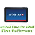 Eurostar ePad 2+ ET754-F12 Firmware