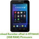 Eurostar ePad 4s ET7002C-H12 (1GB RAM) Firmware