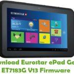 Eurostar ePad Genie ET7183G V13 Firmware