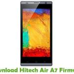 Hitech Air A7 Firmware