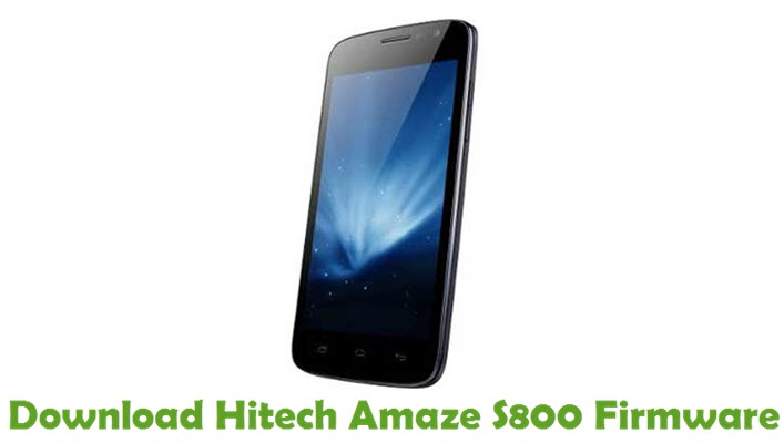 Download Hitech Amaze S800 Firmware