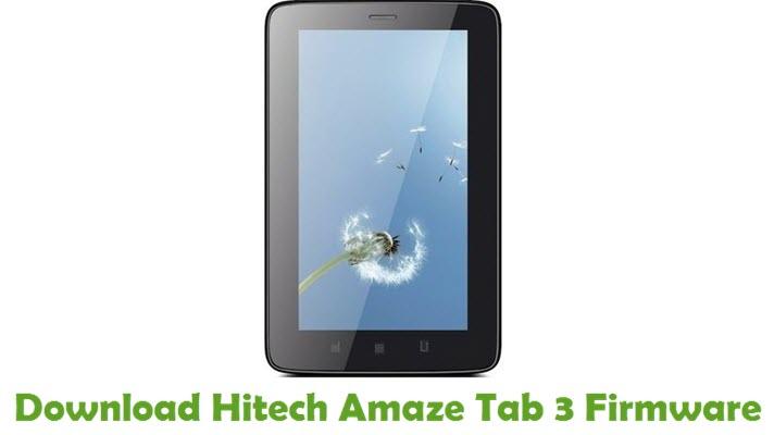 Download Hitech Amaze Tab 3 Firmware