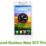 Koobee Max X7T Firmware