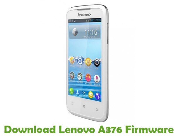 Download Lenovo A376 Stock ROM