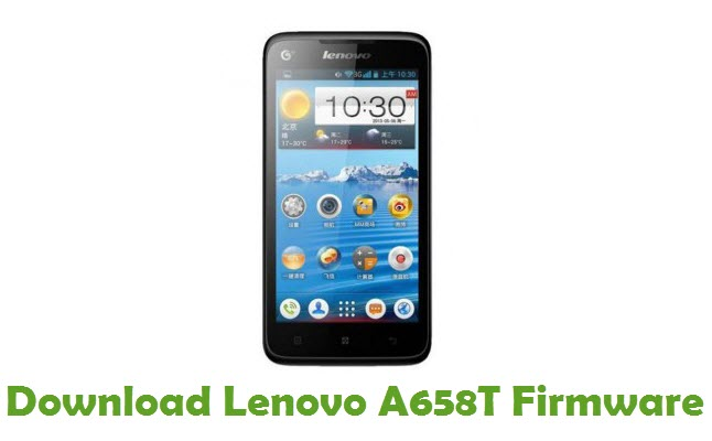 Download Lenovo A658T Stock ROM