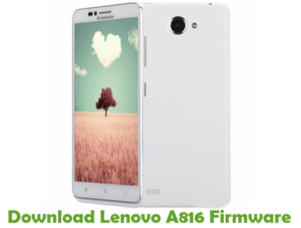 Download Lenovo A816 Stock ROM