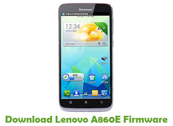Download Lenovo A860E Stock ROM